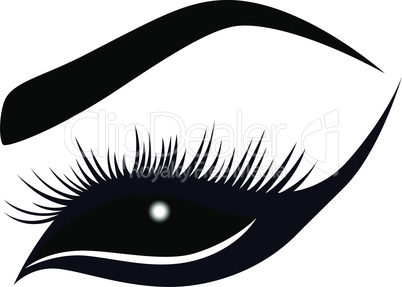 Abstract female eye with long lashes