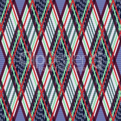 Rhombus seamless pattern as a tartan plaid