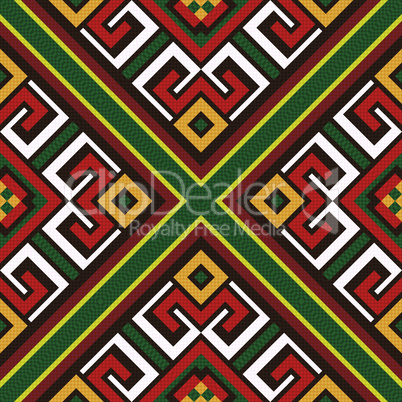 Seamless oriental colourful pattern