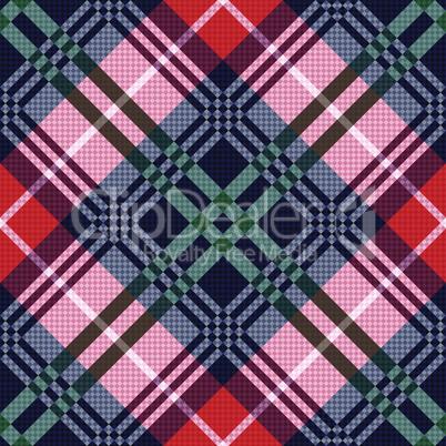 Diagonal tartan seamless texture in various colors