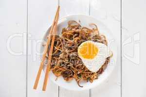 Stir fried Char Kuey Teow noodles