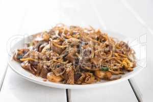 Chinese dish stir fried Char Kuey Teow