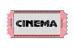 Vintage Ticket Cinema