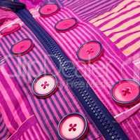 Close up zipper and button