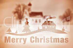 winter scenery snow spray Merry Christmas