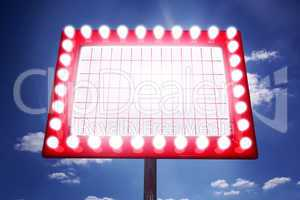 Composite image of neon sign