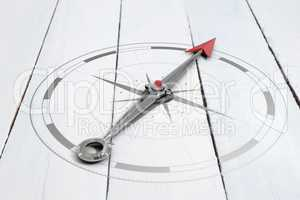 Composite image of compass