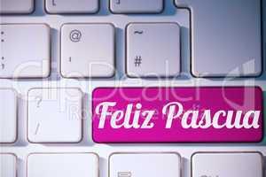Composite image of feliz pasqua