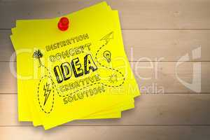 Composite image of idea and innovation graphic