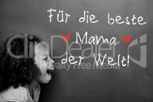 Composite image of german mothers day message