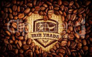 Composite image of fair trade graphic