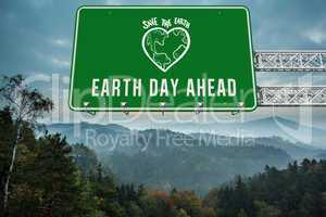 Composite image of earth day ahead