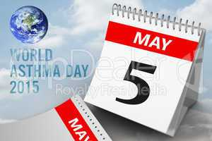 Composite image of world asthma day