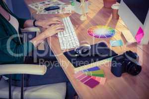 Designer working at her desk