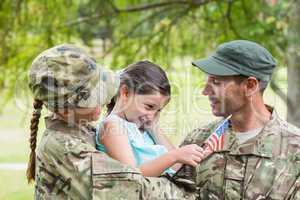 Army parents reunited with their daughter