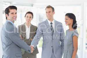 Business team meeting their partner