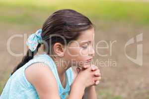 Little girl saying his prayers