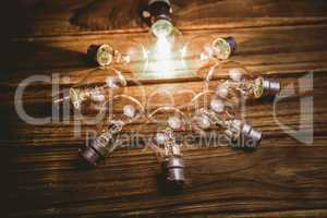 Light bulbs forming frame