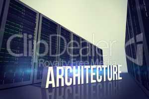 Composite image of architecture