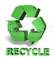 recycle icon 3d graphic