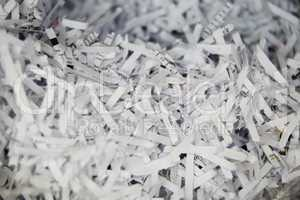 Close Up of Shredded Paper Documents