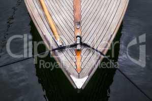 Bug eines Segelboots