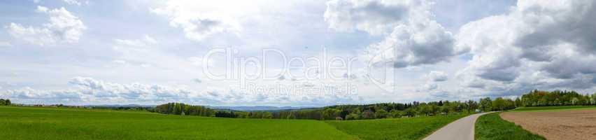 Landschaftsbild der Schwäbischen Alb, Panorama