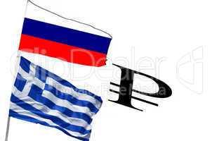 Flagge Griechenland und Russland