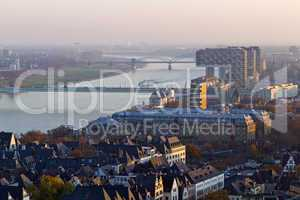 Kranhäuser Köln, Skyline, Rheinbrücken