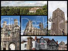 Canterbury landmarks collage