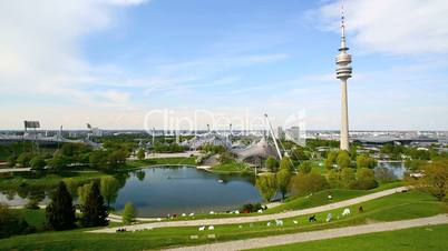 TV tower at the Olympic park in Munich, Germany