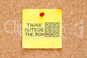Think Outside The Box Sticky Note