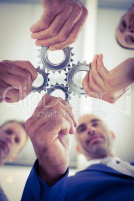 Business team solving a problem