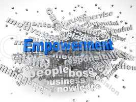3d image Empowerment   issues concept word cloud background
