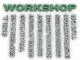 3d image Workshop  issues concept word cloud background