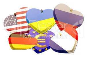 Fahnen Herzen - Patriotism - Illustration