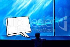 Composite image of speech bubble