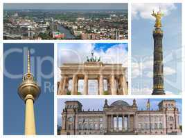 Berlin landmarks collage