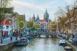 Basilica of Saint Nicholas (Sint-Nicolaasbasiliek) in Amsterdam,