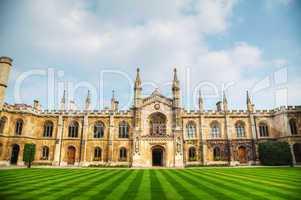 Courtyard of the Corpus Christi College in Cambridge, UK