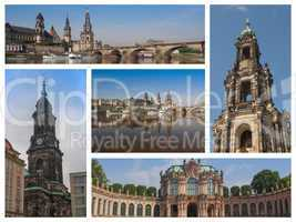 Dresden landmarks collage