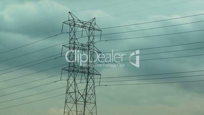 Electric Pylon Clouds Time-lapse