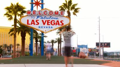 Las Vegas Welcome Sign, Time-lapse