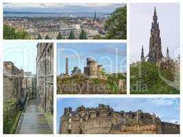 Edinburgh landmarks collage