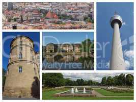 Stuttgard landmarks collage