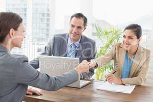 Business people conducting an interview