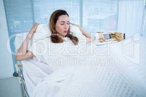 Pregnant woman having birth pangs