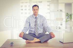 Relaxation of businessman