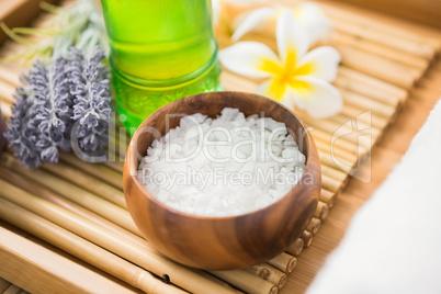 Salt scrub and oil massage