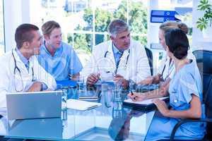Medical team having a meeting